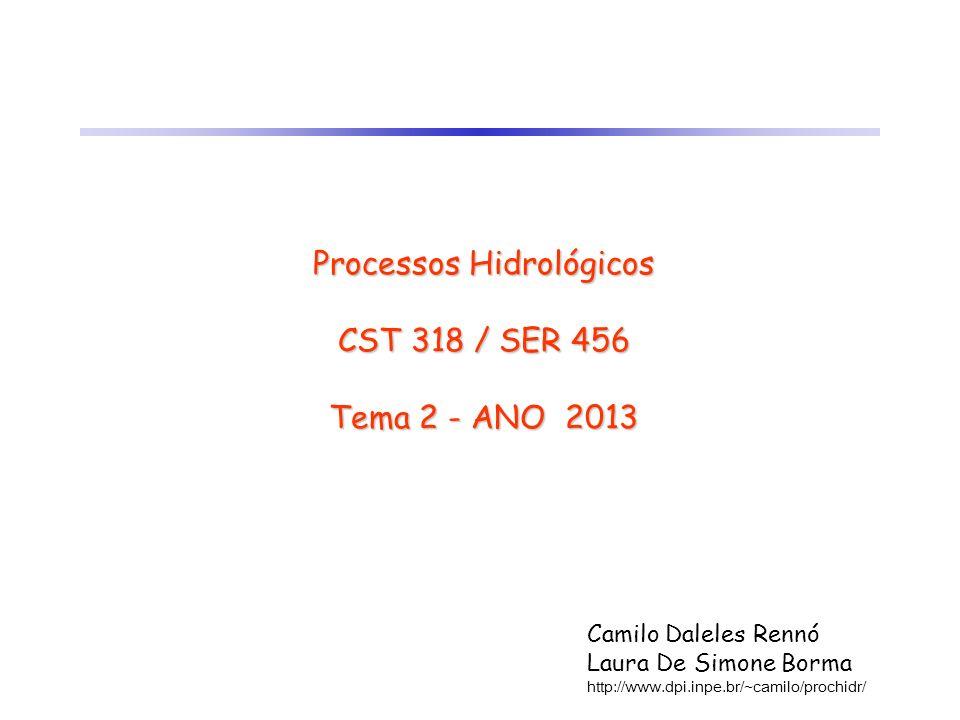 Processos Hidrológicos CST 318 / SER 456 Tema 2 - ANO 2013
