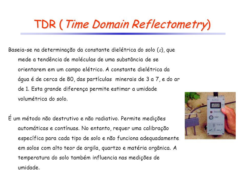 TDR (Time Domain Reflectometry)