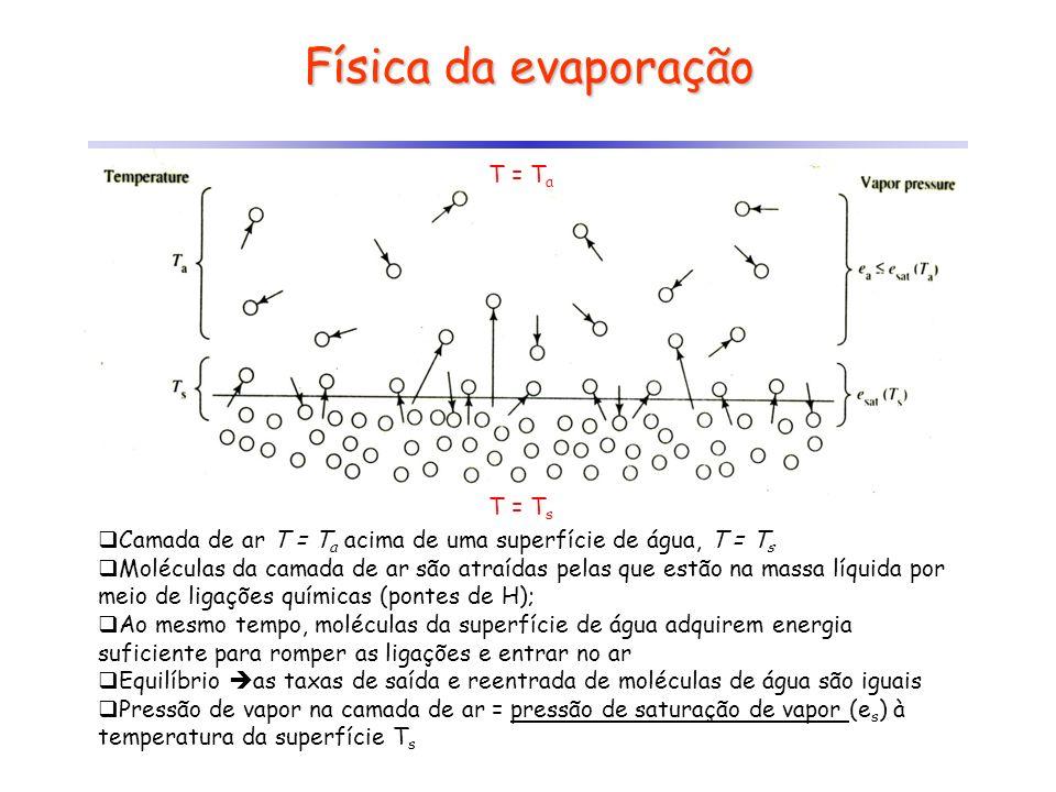 Física da evaporação T = Ta T = Ts