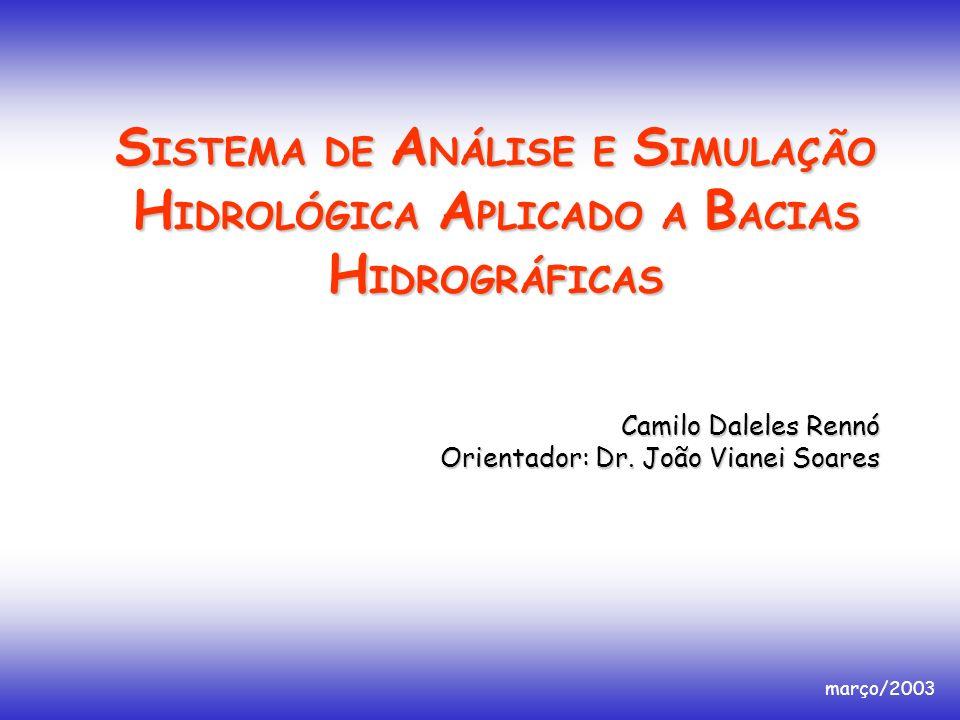 SISTEMA DE ANÁLISE E SIMULAÇÃO HIDROLÓGICA APLICADO A BACIAS HIDROGRÁFICAS