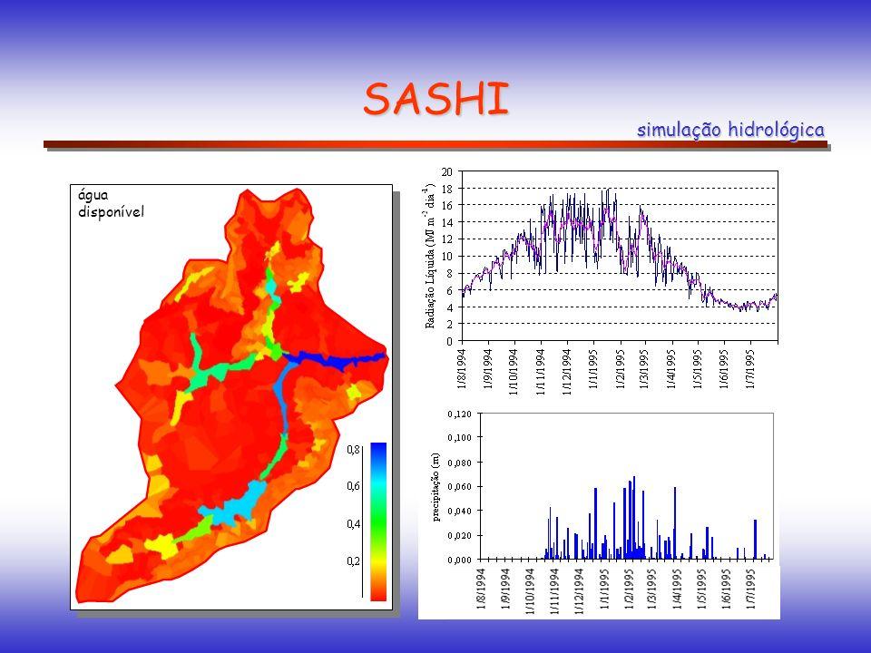 SASHI simulação hidrológica água disponível