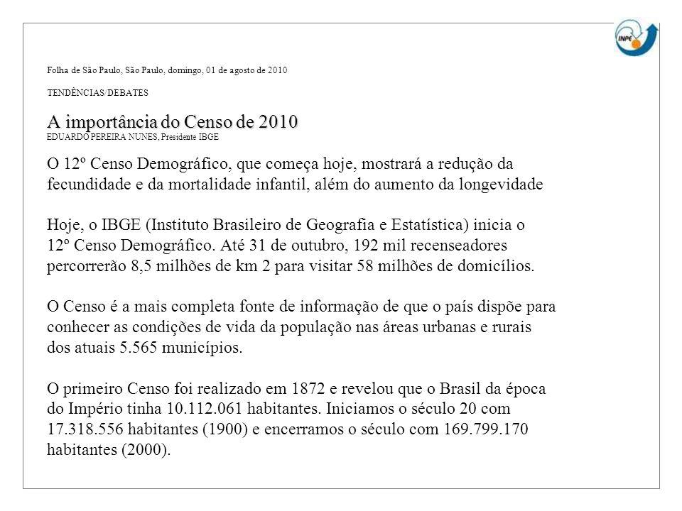 A importância do Censo de 2010