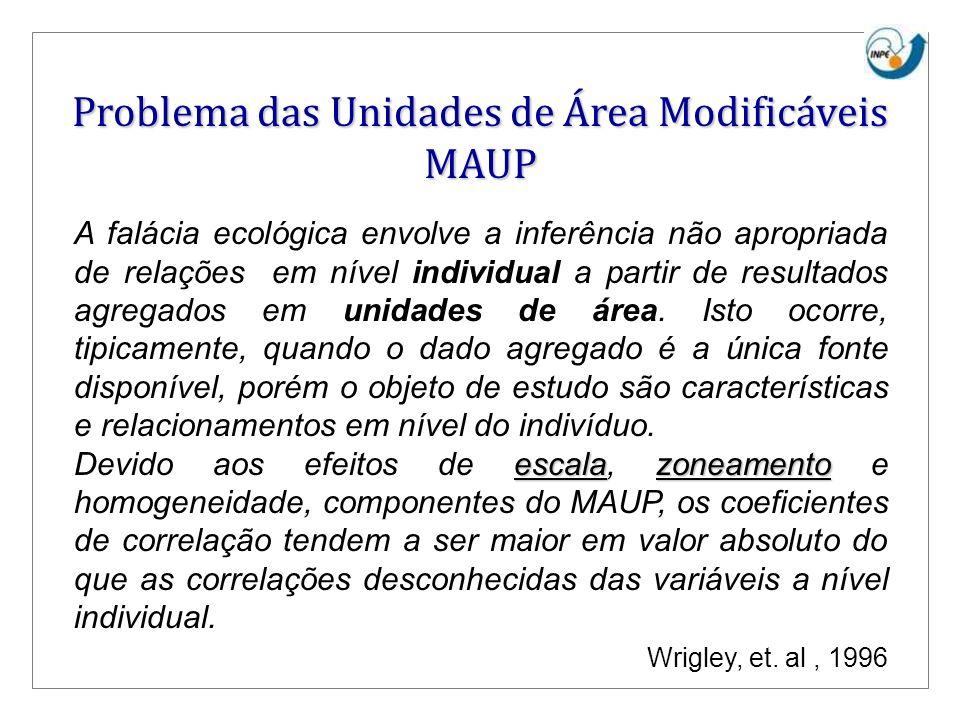Problema das Unidades de Área Modificáveis MAUP