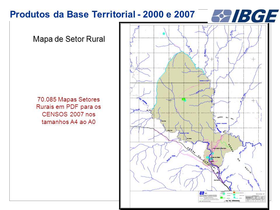Produtos da Base Territorial - 2000 e 2007