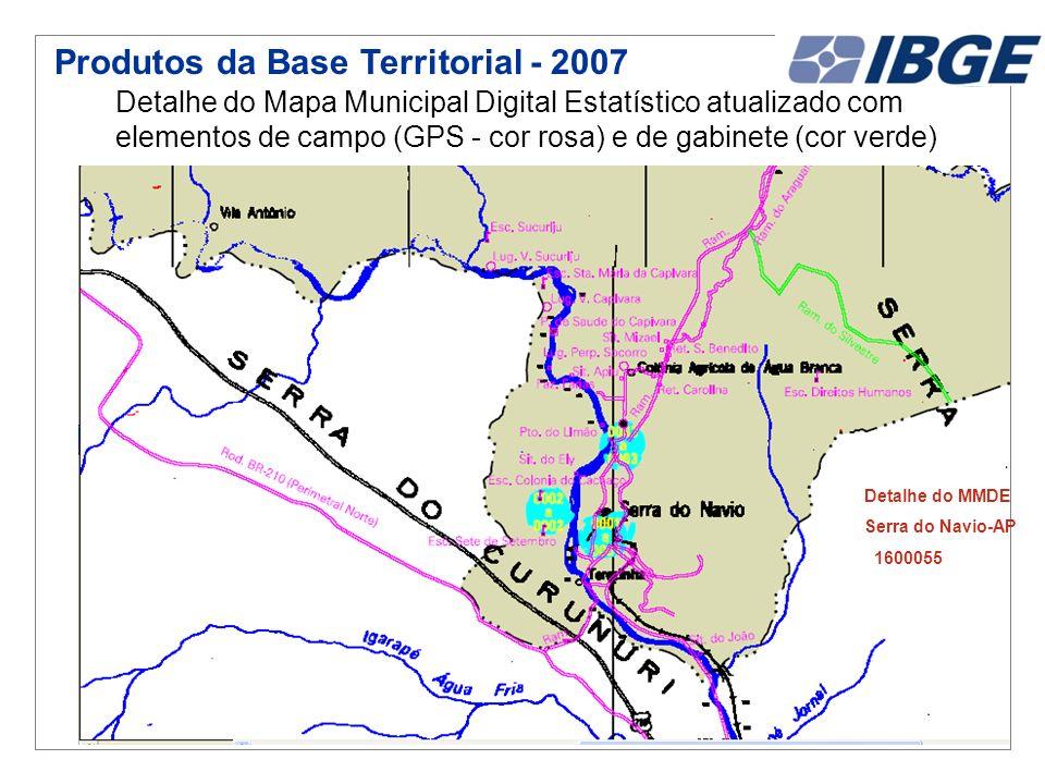 Produtos da Base Territorial - 2007