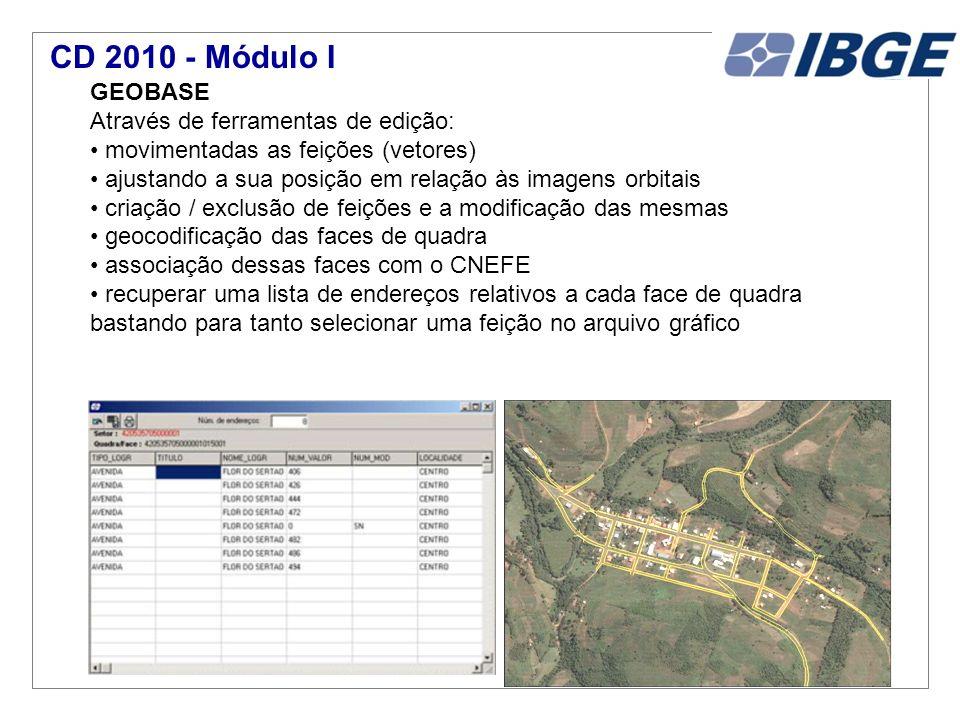 CD 2010 - Módulo I GEOBASE Através de ferramentas de edição: