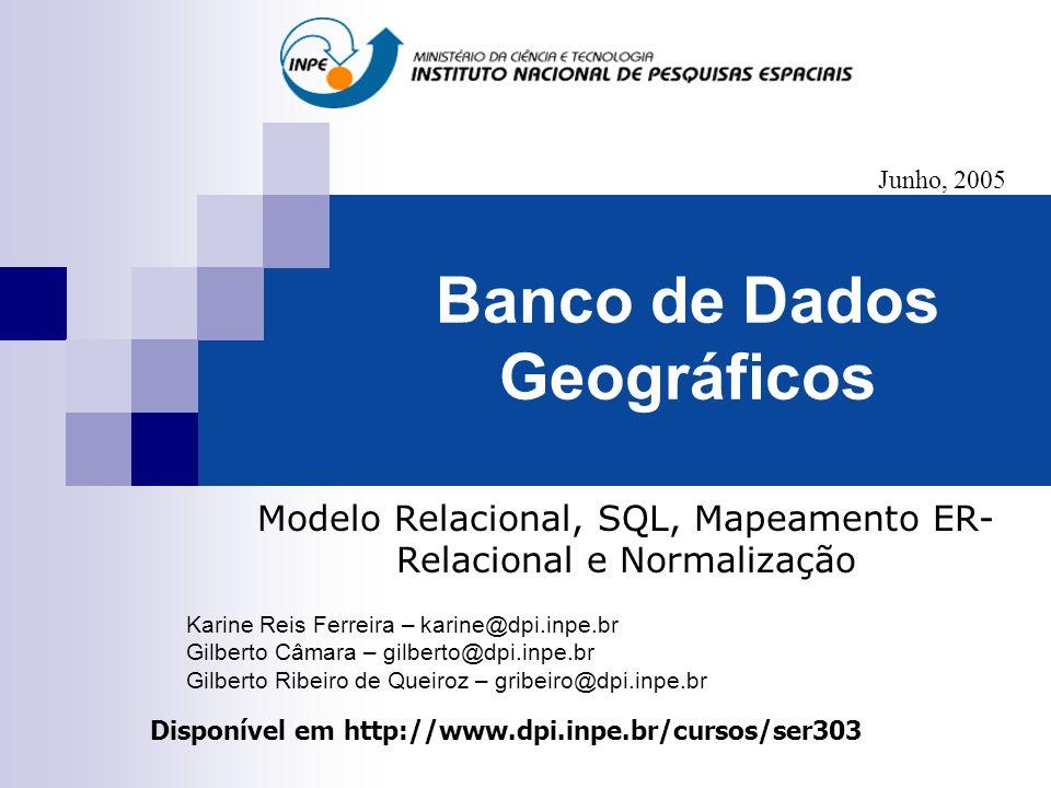 Banco de Dados Geográficos