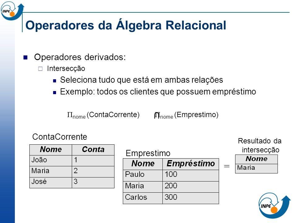 Operadores da Álgebra Relacional