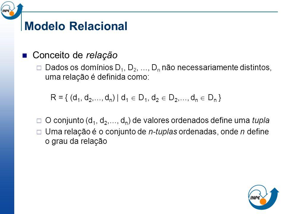 Modelo Relacional Conceito de relação