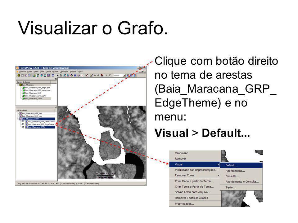 Visualizar o Grafo. Clique com botão direito no tema de arestas (Baia_Maracana_GRP_EdgeTheme) e no menu: