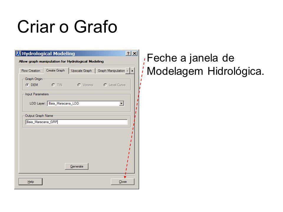 Criar o Grafo Feche a janela de Modelagem Hidrológica.
