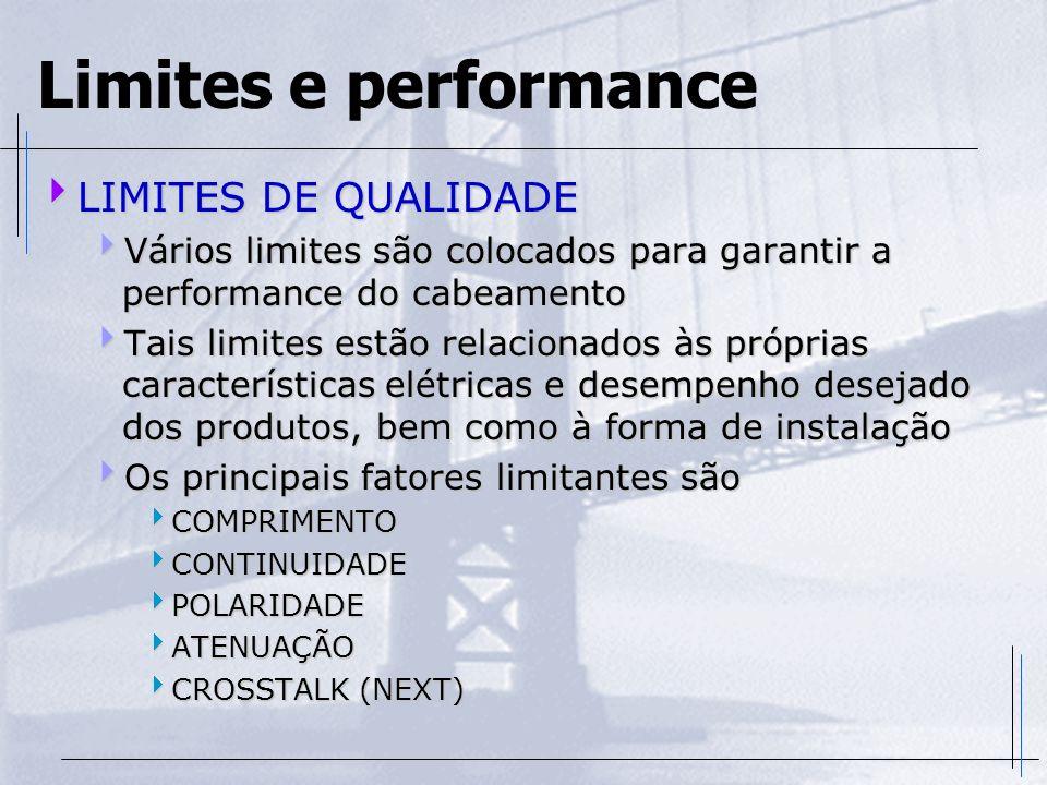 Limites e performance LIMITES DE QUALIDADE