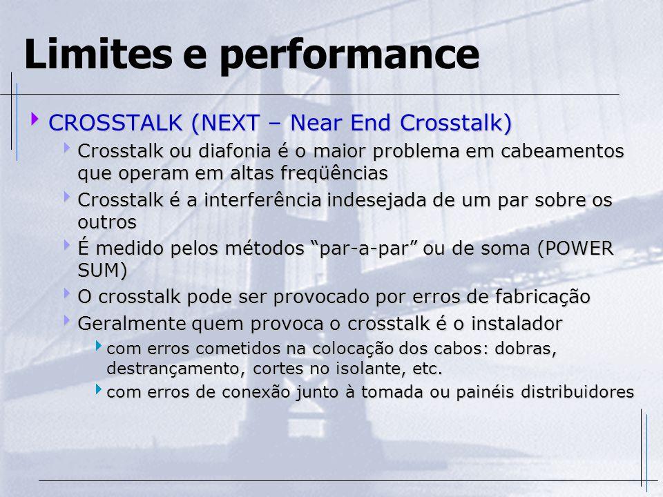 Limites e performance CROSSTALK (NEXT – Near End Crosstalk)