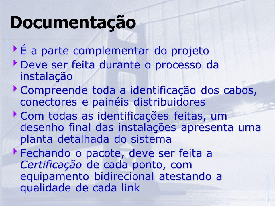 Documentação É a parte complementar do projeto