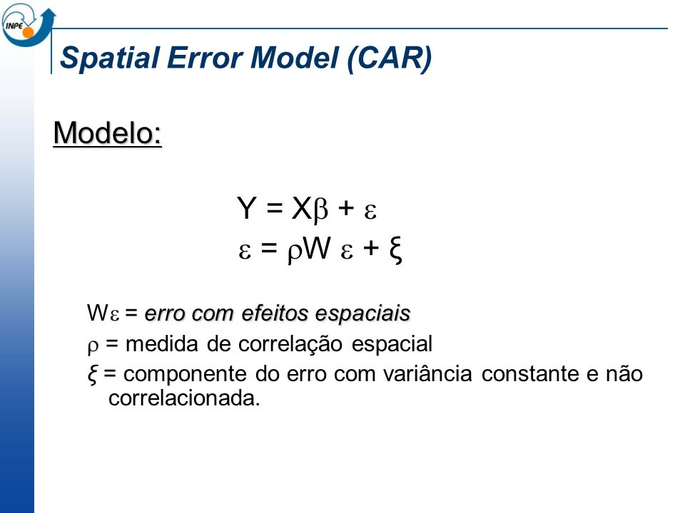 Spatial Error Model (CAR)