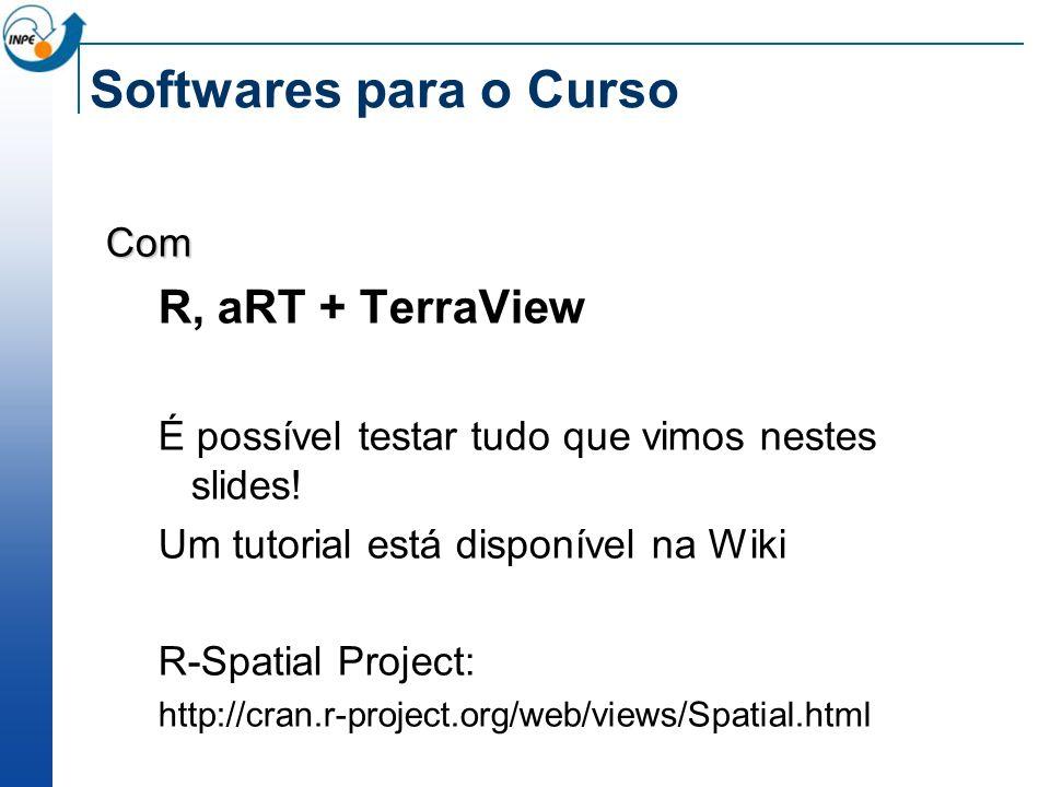 Softwares para o Curso R, aRT + TerraView Com