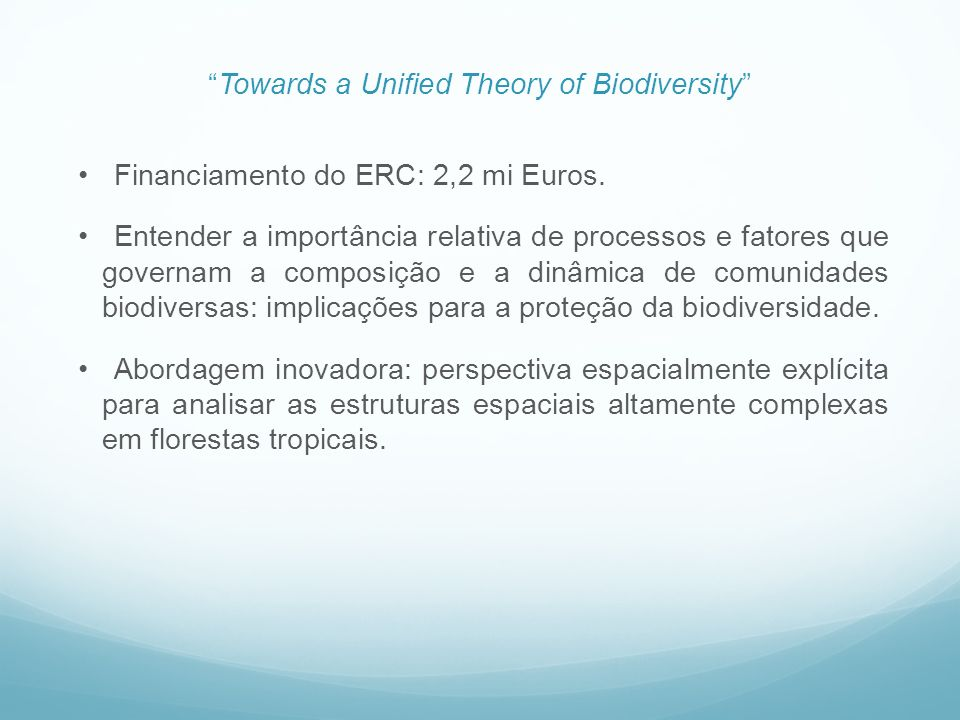 Towards a Unified Theory of Biodiversity