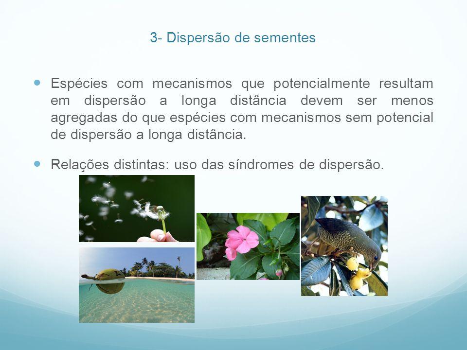 3- Dispersão de sementes
