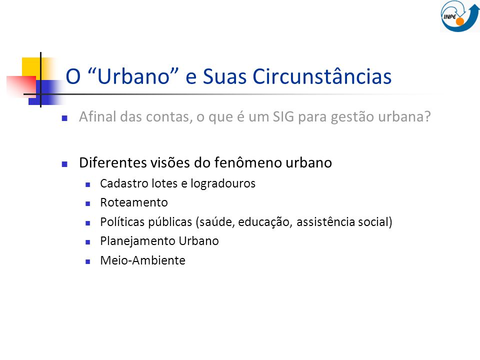 O Urbano e Suas Circunstâncias