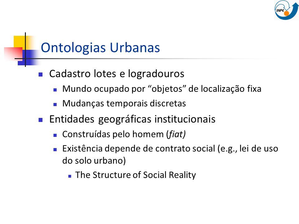 Ontologias Urbanas Cadastro lotes e logradouros