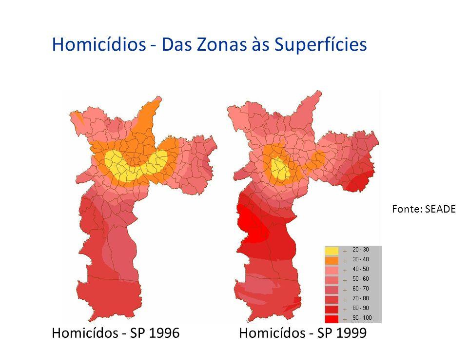 Homicídios - Das Zonas às Superfícies