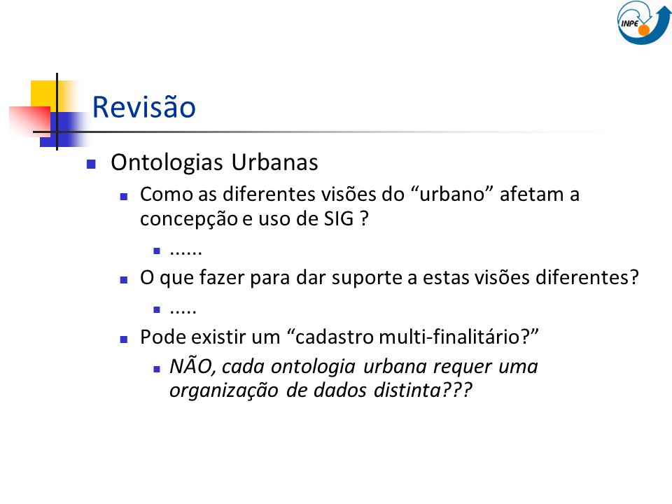 Revisão Ontologias Urbanas