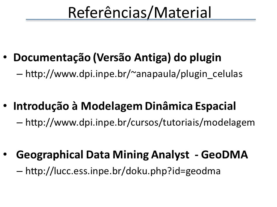 Referências/Material