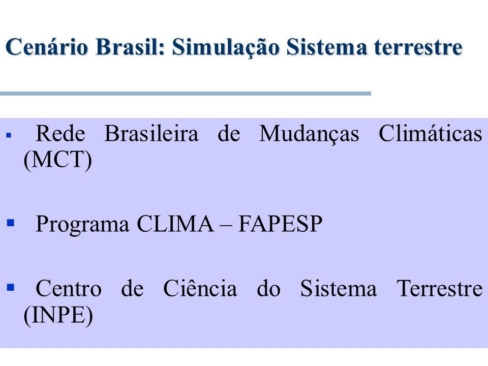 Cenário Brasil: Simulação Sistema terrestre