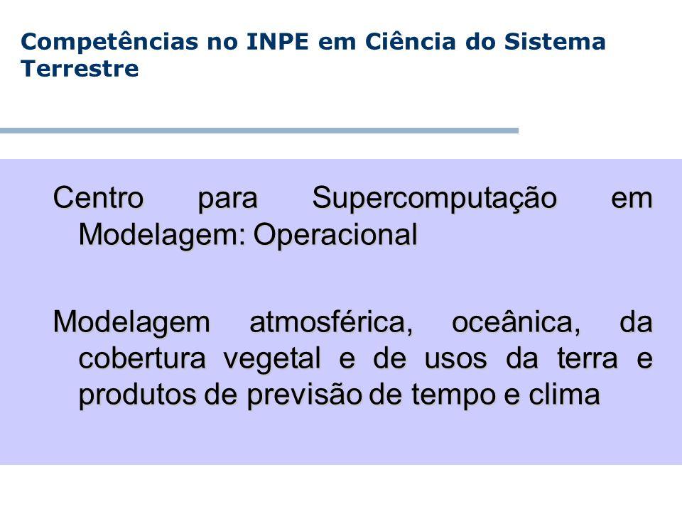 Competências no INPE em Ciência do Sistema Terrestre