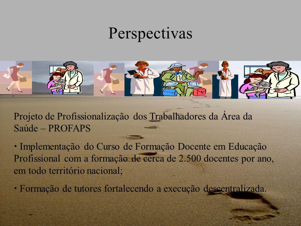 Perspectivas Projeto de Profissionalização dos Trabalhadores da Área da Saúde – PROFAPS.