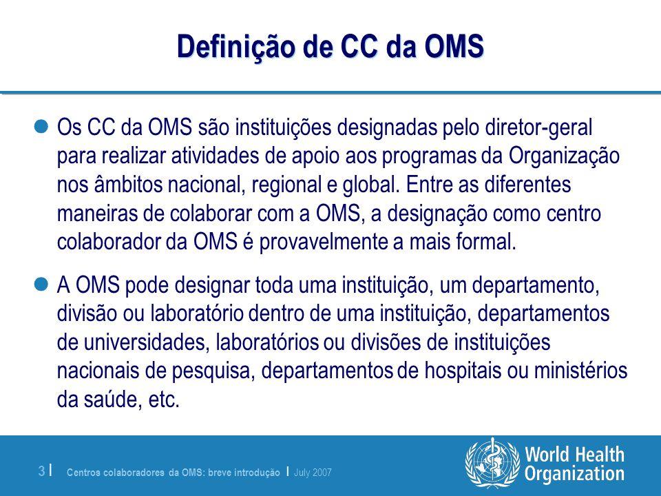 Definição de CC da OMS