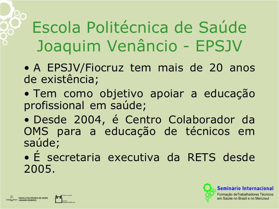 Escola Politécnica de Saúde Joaquim Venâncio - EPSJV