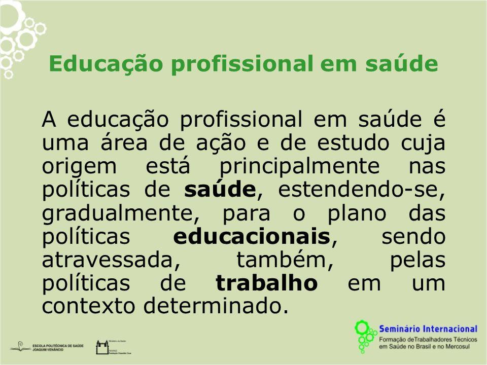 Educação profissional em saúde