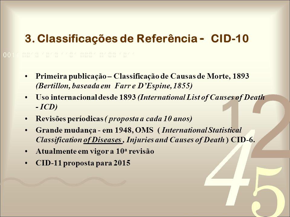 3. Classificações de Referência - CID-10