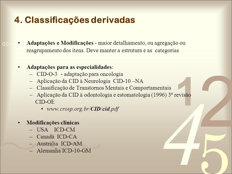 4. Classificações derivadas