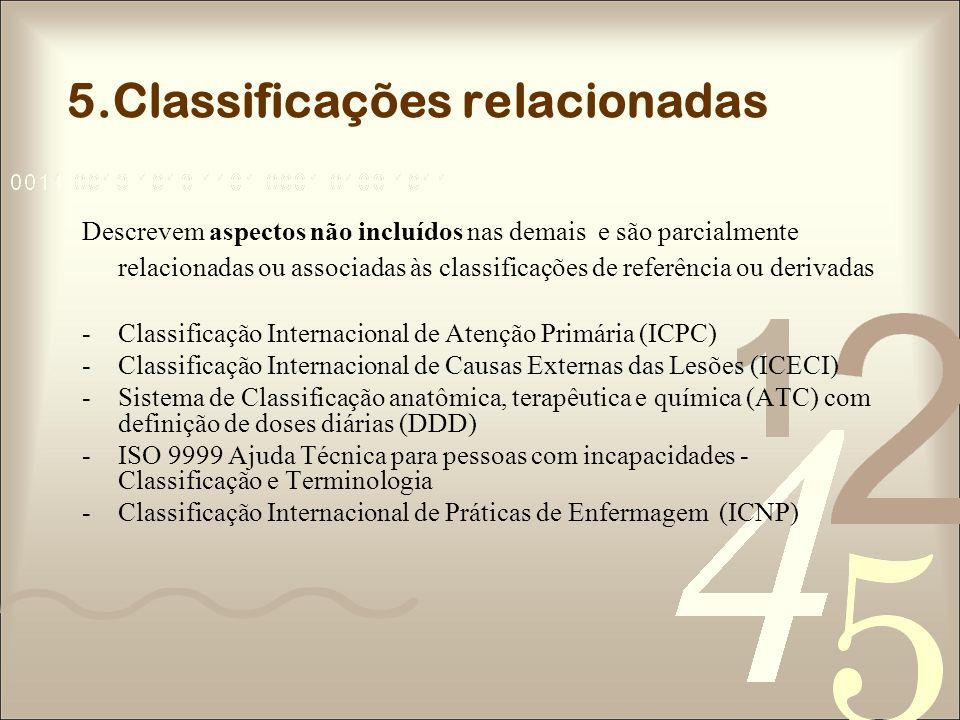 5.Classificações relacionadas