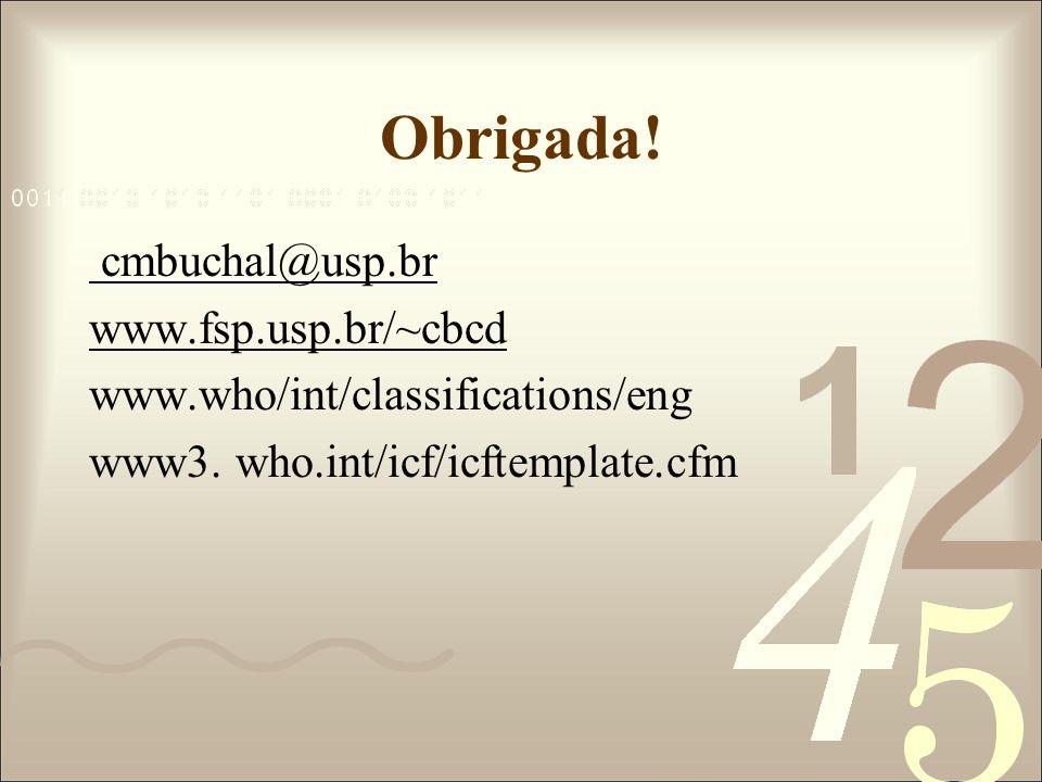 Obrigada! cmbuchal@usp.br www.fsp.usp.br/~cbcd