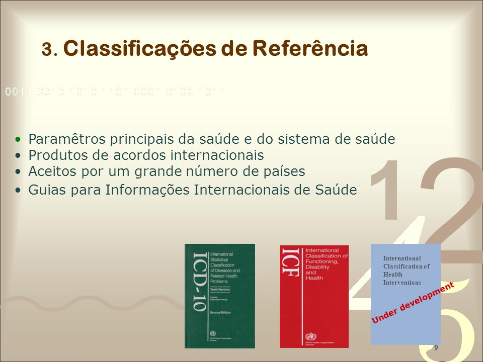 3. Classificações de Referência