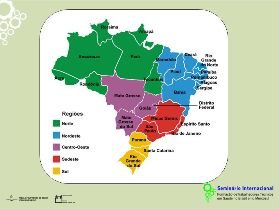SLIDE 4 Para entender como está organizada as regiões brasileiras, foi com base nessa divisão que organizamos os dados.