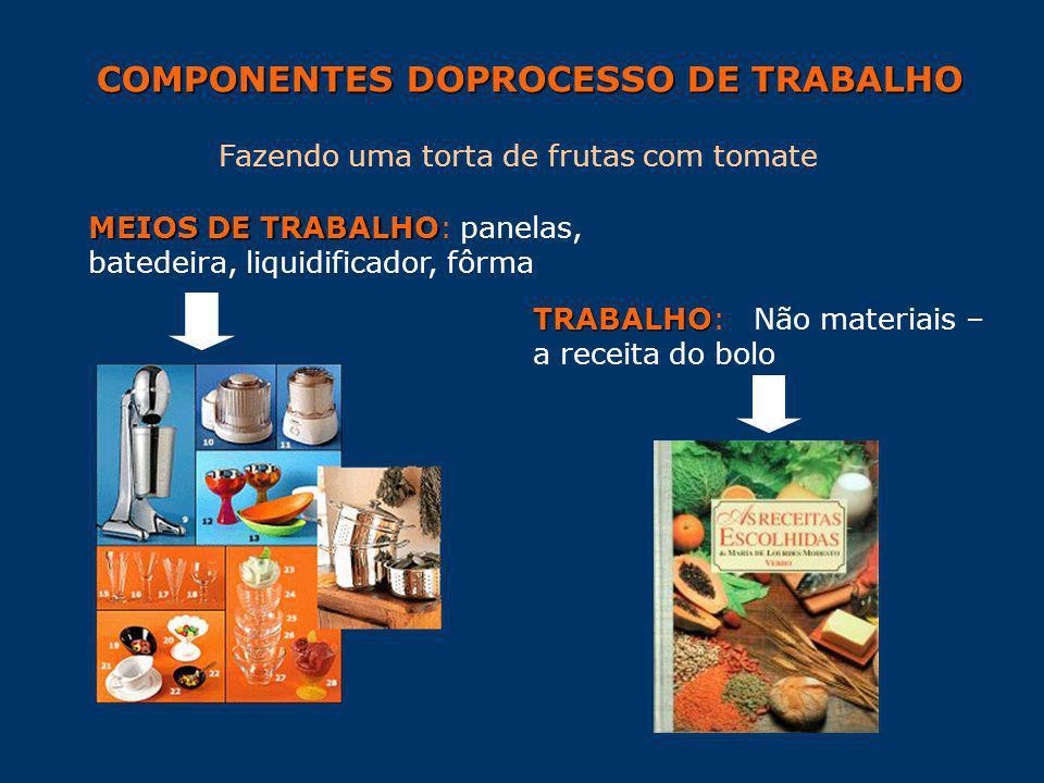 COMPONENTES DOPROCESSO DE TRABALHO