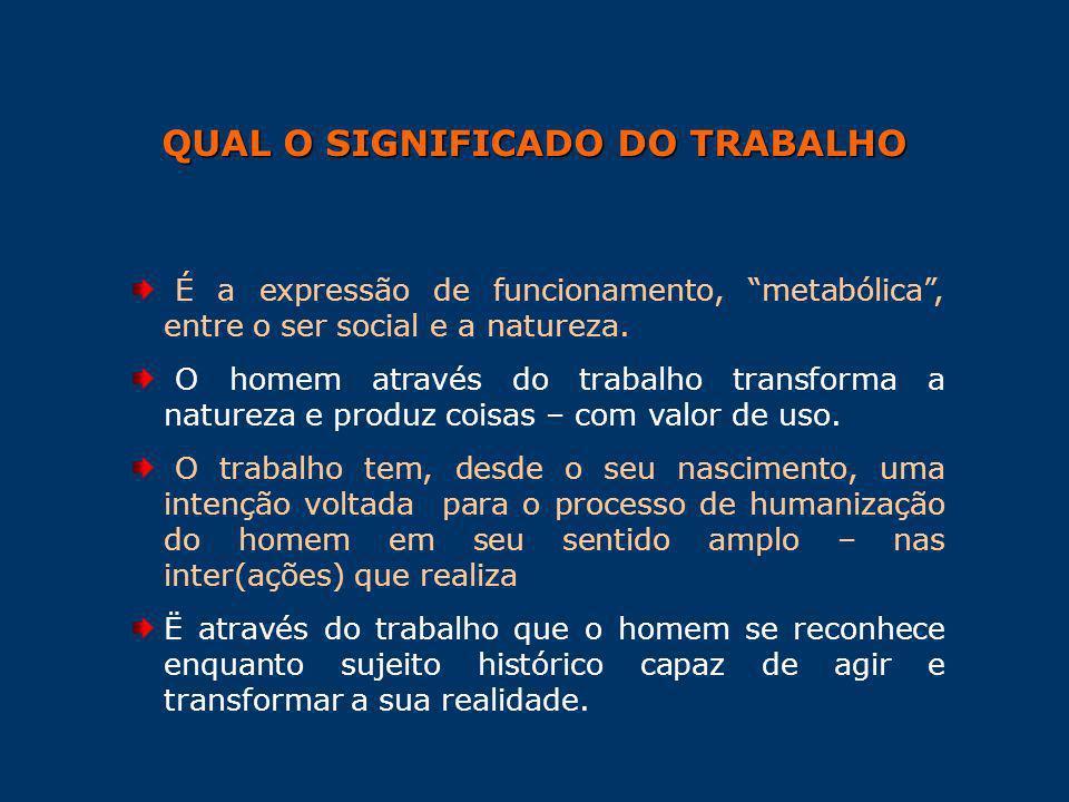 QUAL O SIGNIFICADO DO TRABALHO