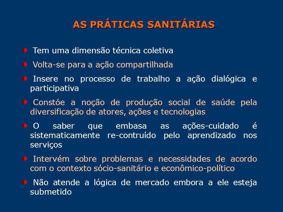 AS PRÁTICAS SANITÁRIAS