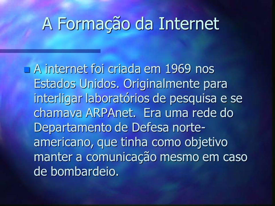 A Formação da Internet