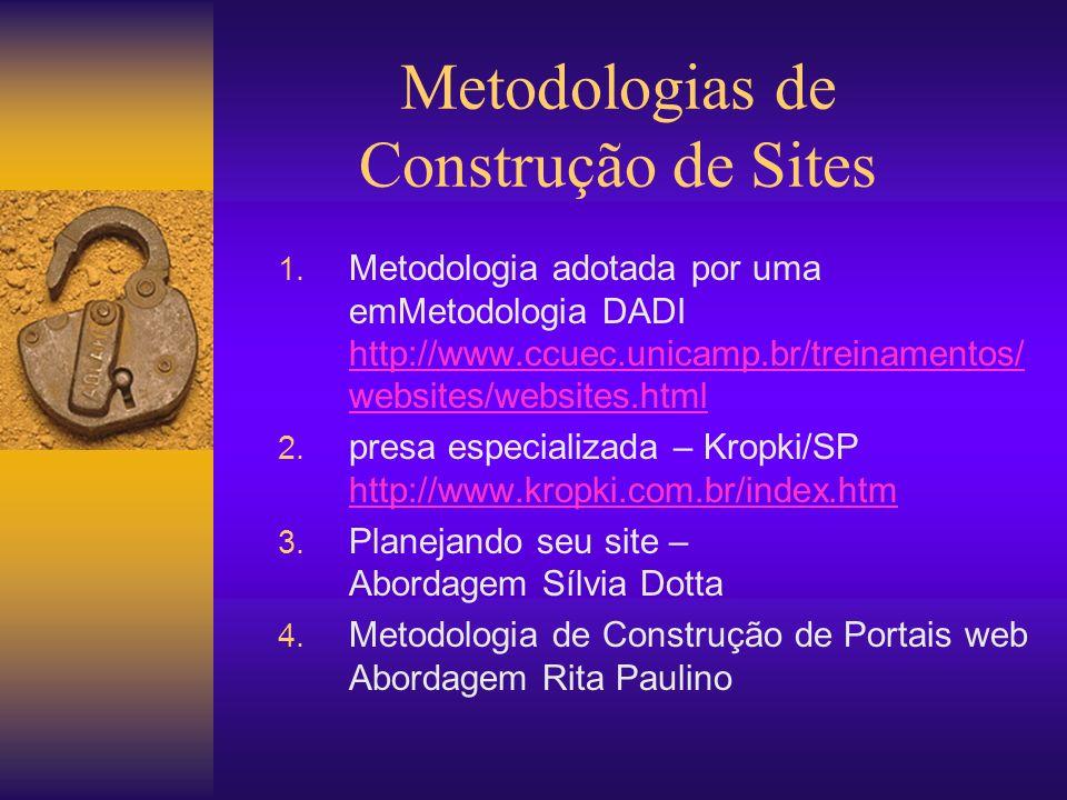 Metodologias de Construção de Sites