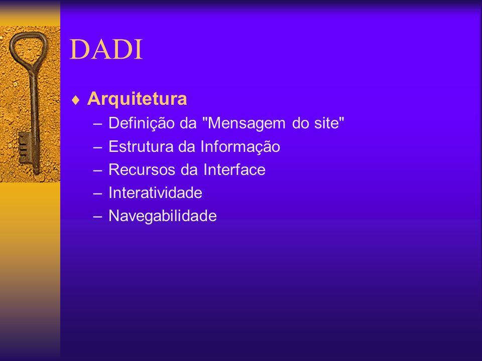 DADI Arquitetura Definição da Mensagem do site