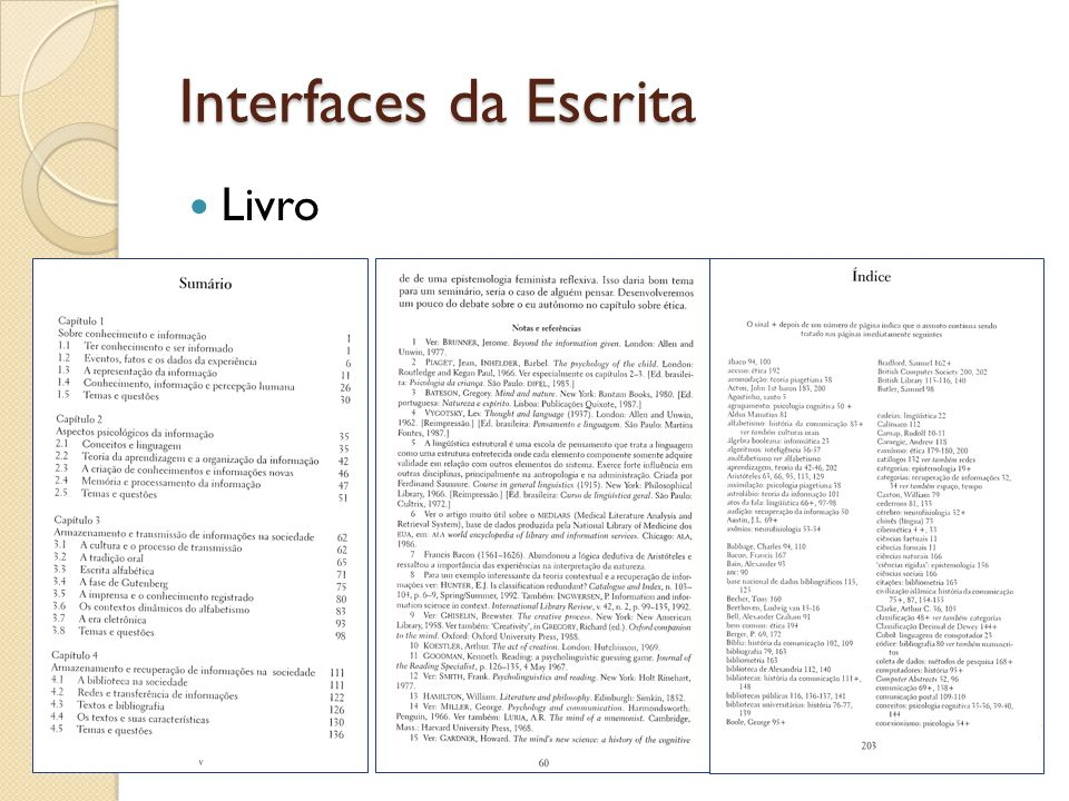 Interfaces da Escrita Livro