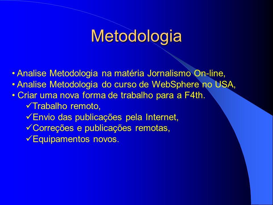 Metodologia Analise Metodologia na matéria Jornalismo On-line,