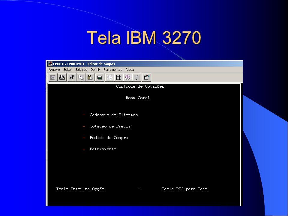 Tela IBM 3270
