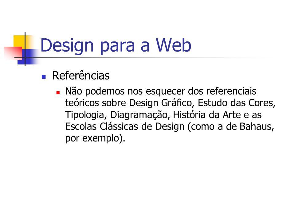 Design para a Web Referências