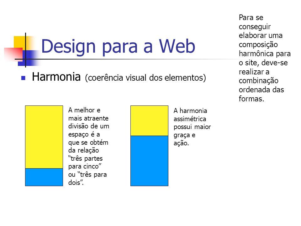 Design para a Web Harmonia (coerência visual dos elementos)